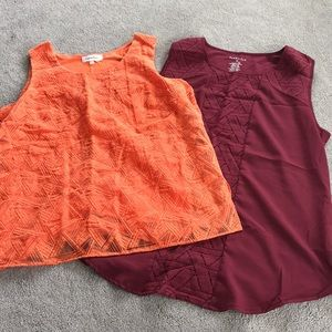 Sleeveless Blouse Bundle - Size Medium